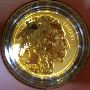 2013-W American Buffalo gold reverse proof obverse