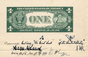 1935 $1 Reverse Early Design