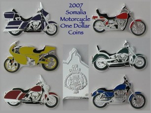 2007 Somalia Motorcycle Coins