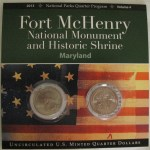 Fort McHenry Quarters display folder issued by the National Park Service