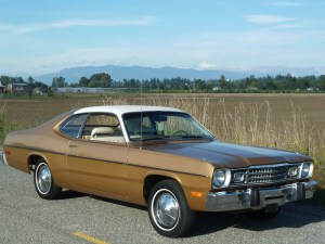 This 1974 Plymouth Gold Duster with a 225 Slant 6 is a memory that is on a truck on its way to is new home in my garage!