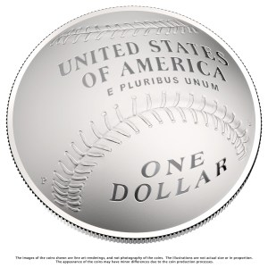 Reverse design of the 2014 Baseball Hall of Fame commemorative