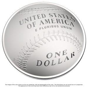 Reverse design of the 2014 Baseball Hall of Fame commemorative