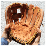 The baseball glove that inspired Cassie McFarland's winning entry.
