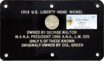 1913 Walton Specimen Liberty Head Nickel, PCGS PR63, sold for $3,172,500 at Heritage Auctions on April 25, 2013 to Jeff Garrett of Lexington, Kentucky and Larry Lee of Panama City, Florida.