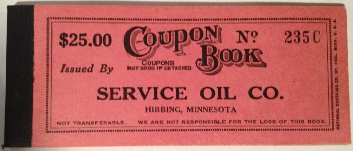 A never used home heating oil rationing coupon book from the World War II era.