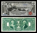 """History Instructing Youth"" Educational Series $1 Silver Certificate, Series 1898,"