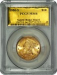 "One of the 1,427 ""Saddle Ridge Hoard"" buried treasure gold coins certified MS66 by PCGS"