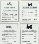 Monopoly Railroad deed cards