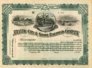 Atlantic City and Shore Railroad, operator of the Shore Fast Line (Short Line in Monopoly)