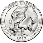 2013 Mount Rushmore Quarter
