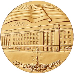 Obverse of the Pentagon Fallen Heroes medal designed and engraved by Phebe Hemphill