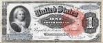 Series 1886 $1 Silver Certificate featuring Martha Washington (Fr #217)