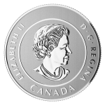 Obverse of the Royal Canadian Mint $20 for $20 silver coins