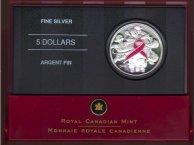 2006 Canada silver $5 Breast Cancer Commemorative Coin