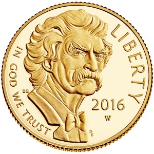 2016 Mark Twain $5 Gold Commemorative