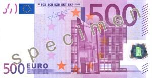 Euro 7+3 Series €500 Banknote