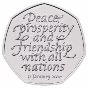 Reverse of the 2020 Brexit coin