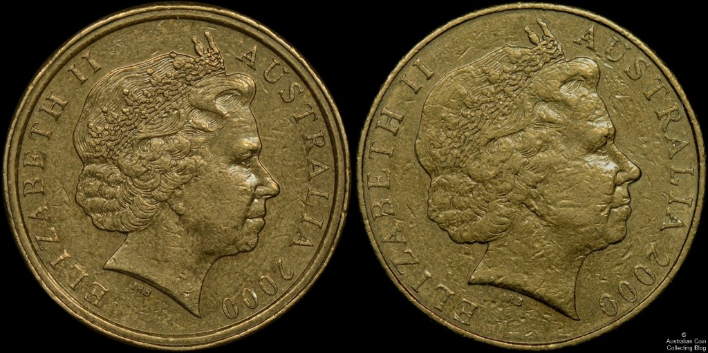 Australia 2000 1 Dollar Mule Comparison