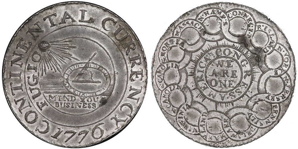 1776 Pewter Continental Dollar