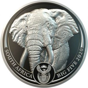 2020 South Africa Platinum Elephant