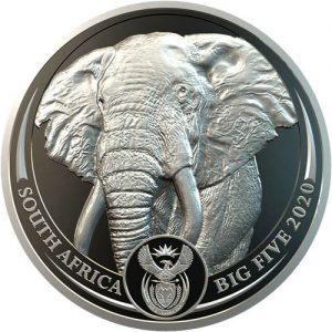 2020 South Africa Platinum Elephant