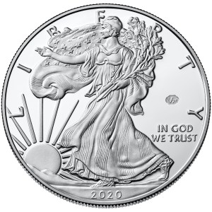 2020 American Eagle Silver One Ounce Proof Coin Obverse Privy Mark
