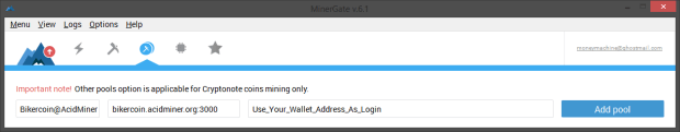 Minergate Other Pools