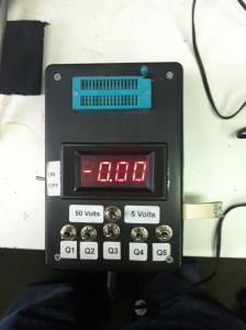 Tests both 5 volt and 50 volt reel reader cards