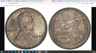 1944 Steel Cent Penny Discovered! I Wish!!