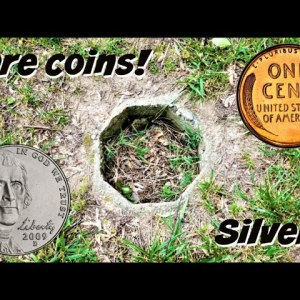 SILVER, RARE COINS, AND LOTS MORE FOUND METAL DETECTING AN OLD YARD! | THE ULTIMATE COIN HUNT