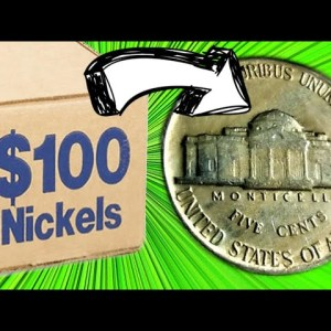 """I FOUND THIS RARE """"S"""" MINT COIN IN A $100 BOX OF NICKELS! COIN ROLL HUNTING NICKELS 
