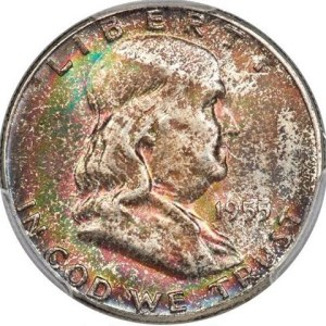 $2,820.00 Franklin Half in this 1955 A Year in Review