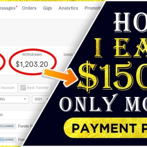 I Earned $ 1500 in just one month | Live payment proof | Work on Fiverr | work from home | No skills