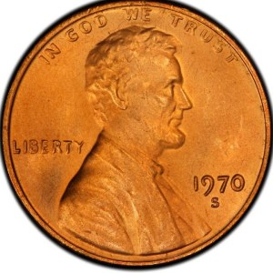 $37,500.00 Lincoln Cent in this 1970 A Year in Review