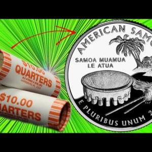 I OPENED 5 ROLLS OF QUARTERS FROM THE BANK: HERE'S WHAT I FOUND | COIN ROLL HUNTING QUARTERS