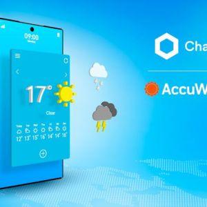 accuweather chainlinks weather data in blockchains