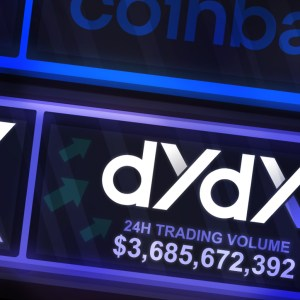 crypto derivatives exchange dydx trading volume overtakes that of coinbase spot markets