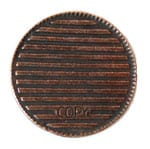 Bar Copper NY coin