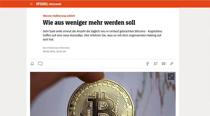 Das bevorstehende Bitcoin-Halving erklärt