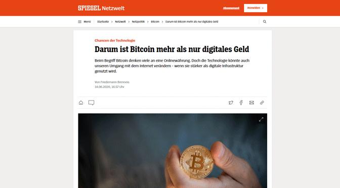 Bitcoin als technische Infrastruktur