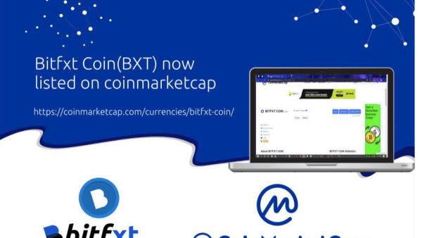 BITFXT EXCHANGE GETS LISTED ON COINMARKETCAP