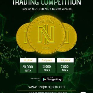 NAIRX TRADING COMPETITION ON NAIJACRYPTO: DEPOSIT AND TRADE TO WIN NAIRX
