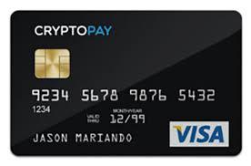 Carte de débit Bitcoin Cryptopay