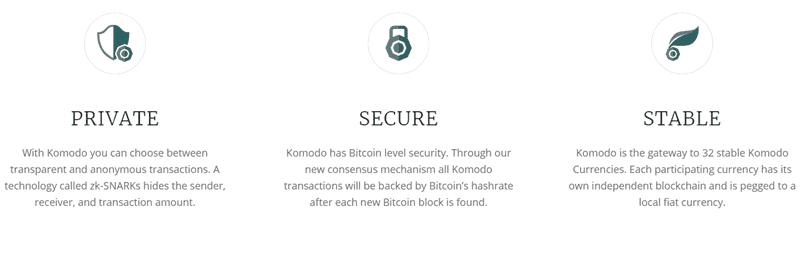 The Komodo blockchain platform