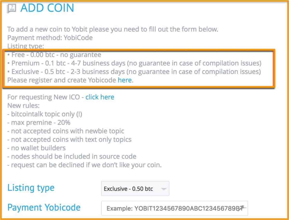 YoBit Coins