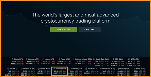 Buy monero on Bitfinex