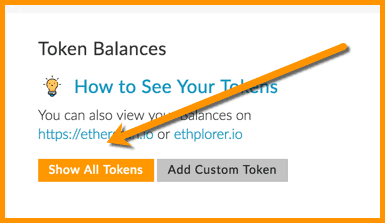 Show All Tokens