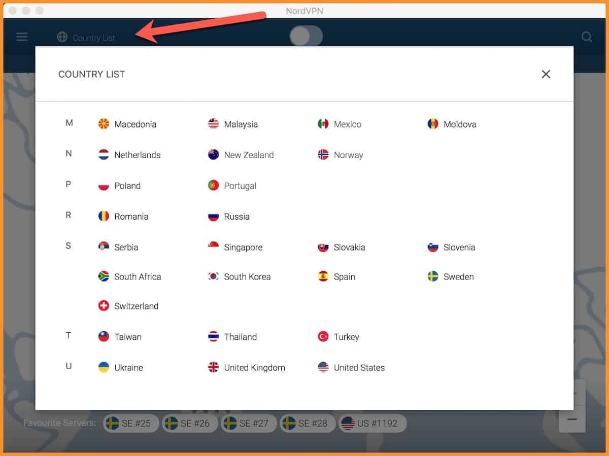 Server-list-NordVPN