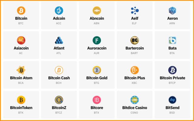 Coinomi Supported Currencies